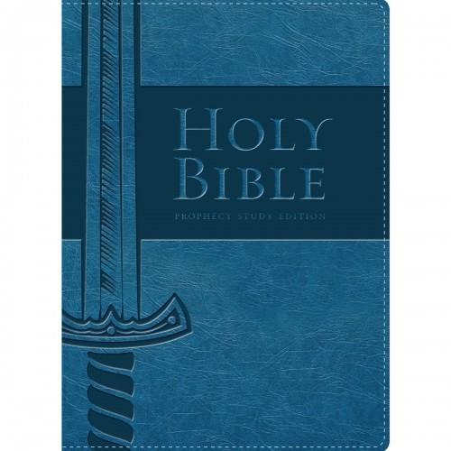 NKJV Prophecy Study Bible (NAVY Leathersoft)