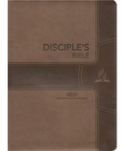 Disciples Bible - NKJV Chain Reference Soft Leather Brown